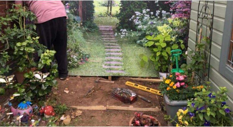 Kaimynas sugalvojo idėją, kaip papuošti savo tvorą taip, jog kiemas vizualiai padvigubėjo