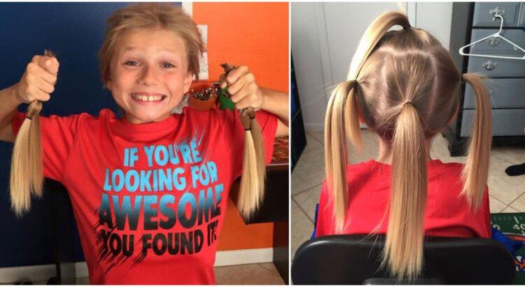 Visi juokėsi, kad berniukas užsiaugino ilgus plaukus kaip mergaitė, tačiau jis tai darė su kilniu tikslu