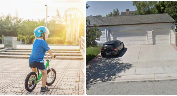 Vyras stebėjimo kamerose pamatė, kaip kaimynų vaikas važinėja jo teritorijoje. Jam kilo geniali mintis, kaip nustebinti berniuką