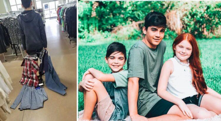 Paauglys šaipėsi iš klasės draugų, kurie devėjo drabužius iš labdaros parduotuvių. Jo mama nusprendė pamokyti sūnų pačiu geriausiu būdu