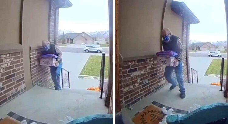 Moteris savo apsaugos kameroje pamatė vyrą, pristačiusį jai prekes. Ji pastebėjo vieną detalę, kuri privertė ją prašyti bendruomenės pagalbos