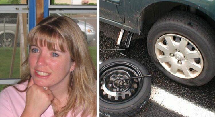 Vyras sustojo padėti moteriai pakeisti nuleistą ratą. Vėliau iš paskos važiavusi vairuotoja pastebėjo, kad vyrui pačiam reikia pagalbos