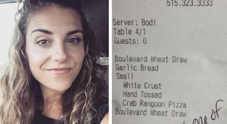 Žmonai pakilus nuo stalo restorane padavėja pakišo vyrui raštelį su žinute. Jos turinys nustebino ne tik jį, bet ir jo žmoną