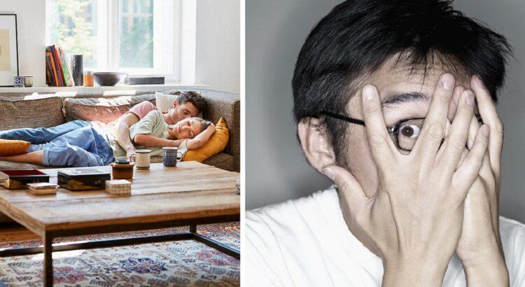 Tėvas užtiko pusnuogę dukrą miegančią su nepažįstamu vaikinu ant sofos. Susodinęs už stalo jis vaikų paklausė vieno labai keisto klausimo