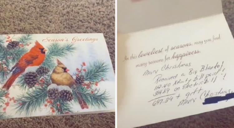 Žmona su vyru gavo Kalėdinę atvirutę nuo anytos, tačiau jos turinys pribloškė ne tik porą, bet ir visą internetą