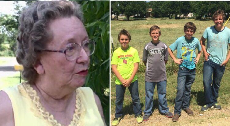 75-erių senutei grėsė areštas dėl nenušienautos žolės kieme. Tačiau ji nustebo, kai vietoje policijos šalia namų ji pamatė 4 paauglius