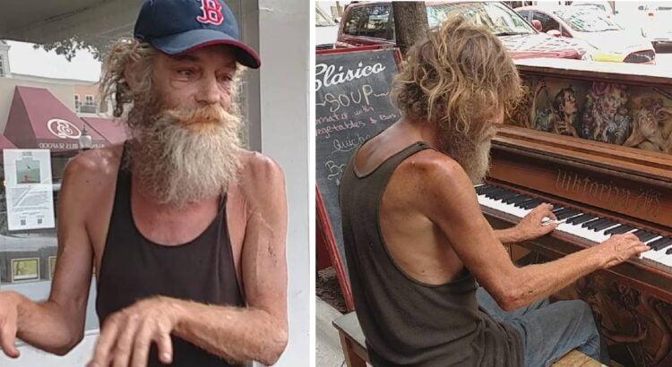 Niekas negalėjo patikėti savo ausimis, kai purvinas benamis atsisėdo prie gatvėje stovėjusio pianino ir pradėjo groti. Vyras nė neįsivaizdavo kaip pasikeis ji gyvenimas