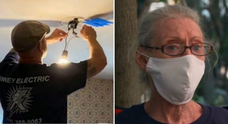 Elektrikas gavo iškvietimą į senutės namus dėl elektros gedimo. Tačiau apsilankęs pas ją vieną kartą jis grįžo po poros dienų su pribloškiančia žinia