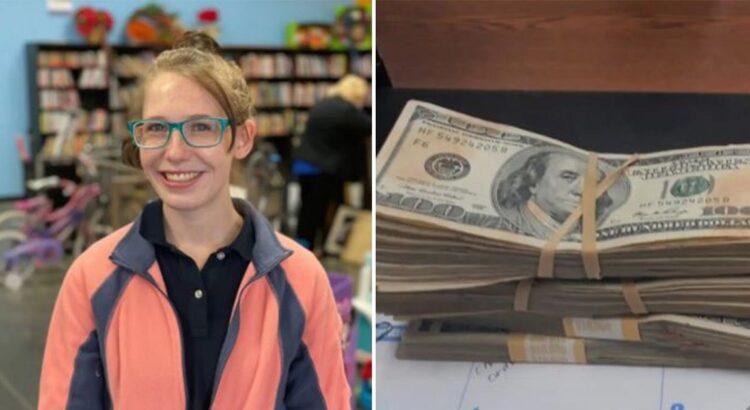 Dėvėtų drabužių parduotuvės darbuotoja netyčia rado 42 000 dolerių, suvyniotų į megztinį. Tai, kaip pasielgė mergina su pinigais, nustebino visą šalį