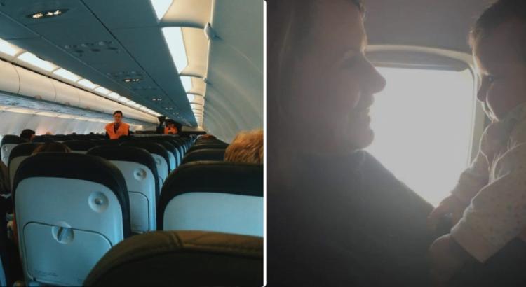 Moteris su dviem kūdikiais buvo varoma iš lėktuvo lauk, kol į jos ir stiuardesės pokalbį neįsikišo nepažįstamoji, nustebinusi savo veiksmais
