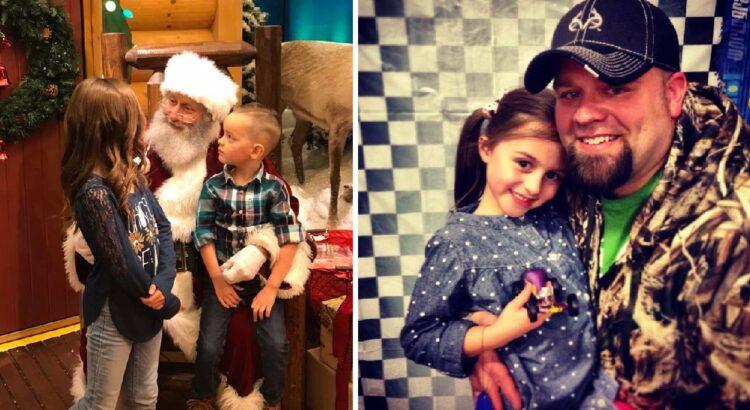 Tėvas atvedė savo vaikus į prekybos centrą susitikti su Kalėdų seneliu, tačiau mažos mergaitės prašymas seneliui netikėtai privertė tvirtą vyrą apsiverkti