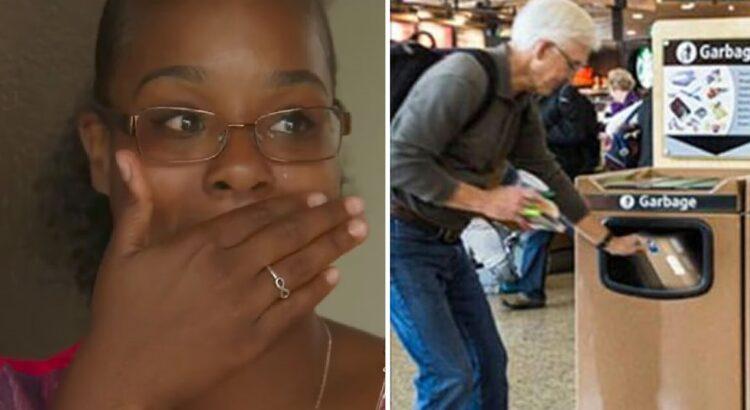 Pora oro uoste pastebėjo, kaip vyras su ašaromis akyse buvo priverstas išmesti siuntinį į šiukšlių dėžę. Jie ištraukė dėžutę iš šiukšliadėžės ir pravirko pamatę jos turinį
