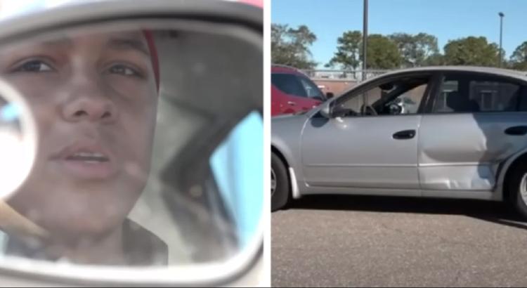 Niekas nesuprato, kodėl jauna mergina tyčia sukėlė avariją sankryžoje, tačiau netrukus aplinkiniai pamatė, ko iš tikrųjų siekė mergina, sudaužiusi savo automobilį