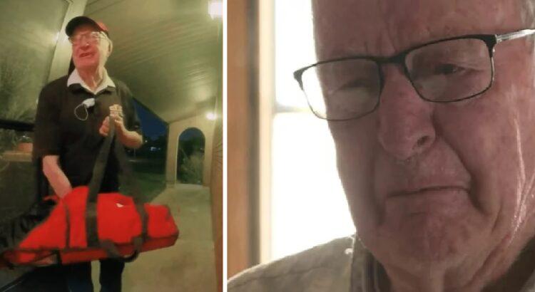 89-erių senolis buvo priverstas uždarbiauti išvežiojant picą, tačiau vos porą kartų matytų klientų netikėtas vizitas jo namuose privertė vyrą apsiverkti