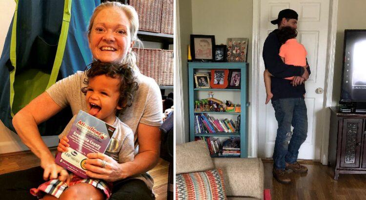 Mama vos susitvarkė su neįgaliu sūnumi, kai į namus atvyko interneto kompanijos darbuotojas. Tai, kaip vaikinas pasielgė su berniuku privertė mamą apsiverkti